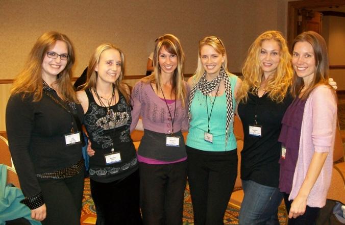 Online eating disorder activists Jill Sharpe, Kendra Sebellius, Shannon Cutts, Brie Widaman, Rachael Stern and Julie Neumann at NEDA 2009.